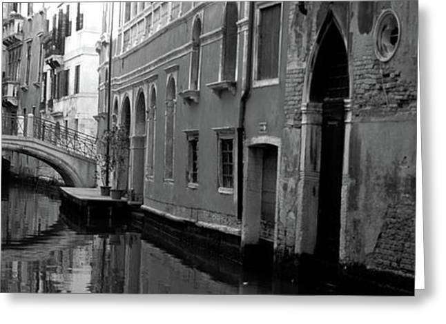 Reflection Of Buildings In Water Greeting Card