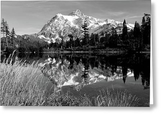 Reflection Of Mountains In A Lake, Mt Greeting Card