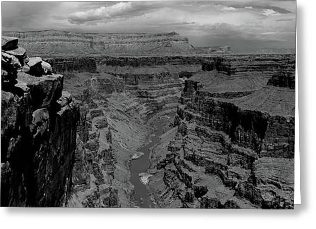 River Passing Through A Canyon Greeting Card by Panoramic Images