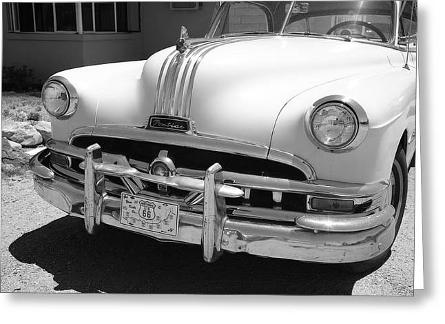 Route 66 - Classic Car Greeting Card by Frank Romeo