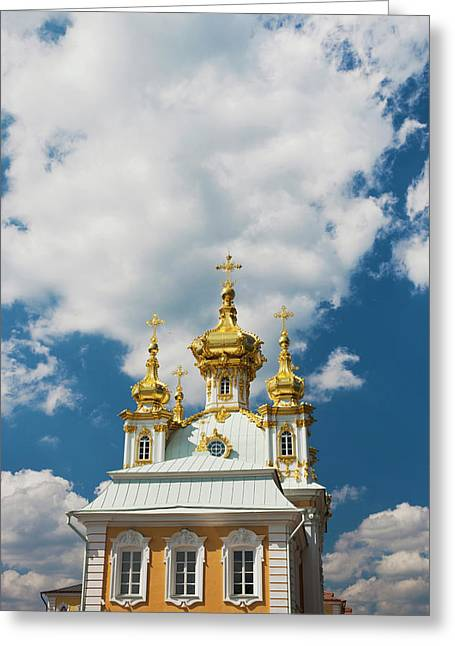 Russia, Saint Petersburg, Peterhof Greeting Card by Walter Bibikow