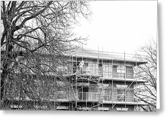 Scaffolding Greeting Card by Tom Gowanlock