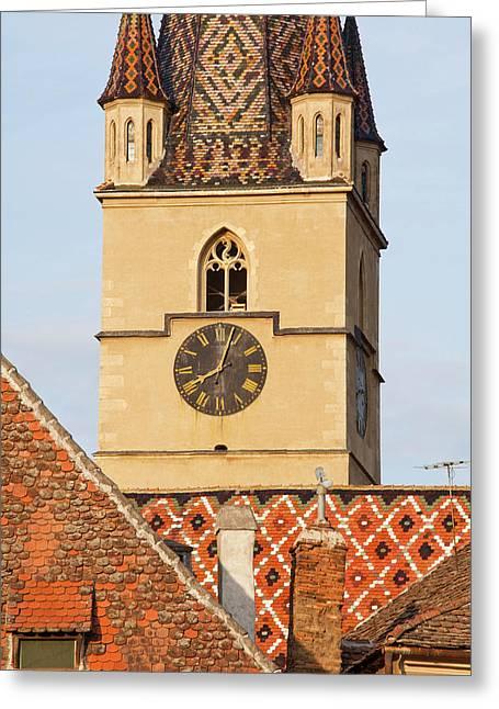 Sibiu, Hermannstadt In Transylvania Greeting Card by Martin Zwick