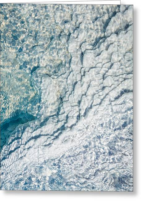 Silica Deposits In Water By The Greeting Card