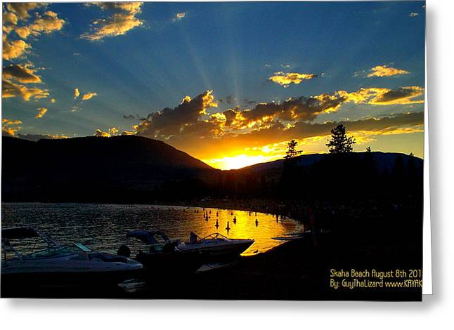 Skaha Lake Sunset Greeting Card