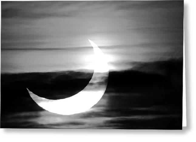 Solar Eclipse Greeting Card by Detlev Van Ravenswaay