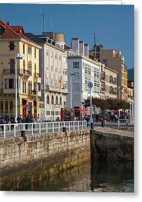 Spain, Asturias Region, Asturias Greeting Card