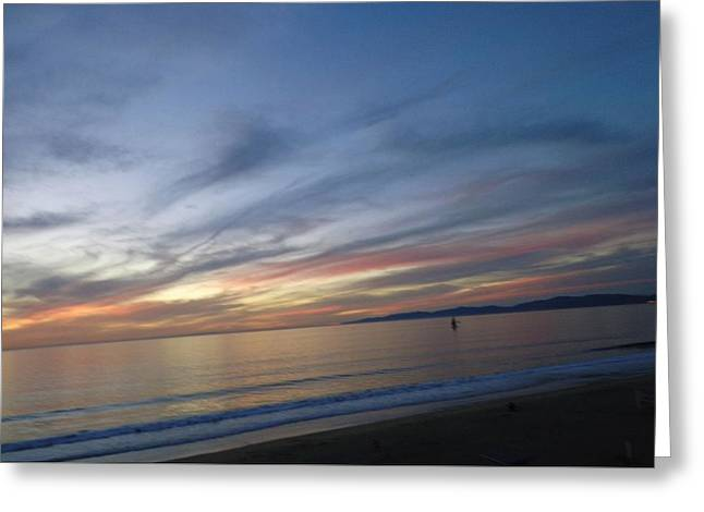 Sundown At Redondo Greeting Card