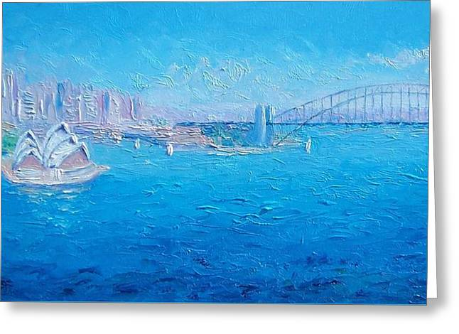 Sydney Harbour Bridge And The Opera House  Greeting Card