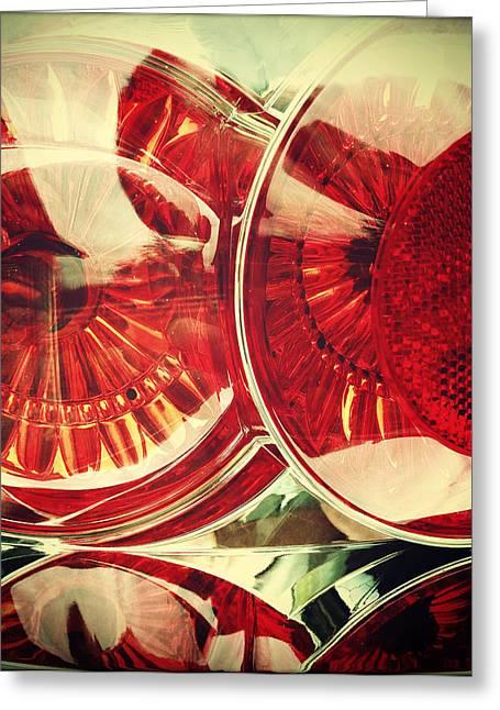 Tail Lights Greeting Card