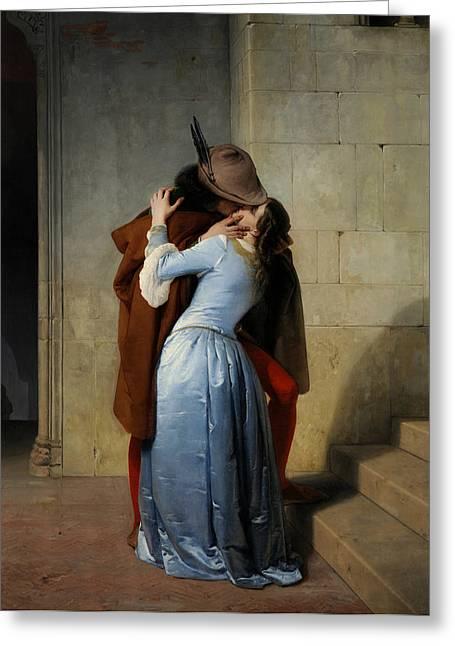 The Kiss Greeting Card by Francesco Hayez