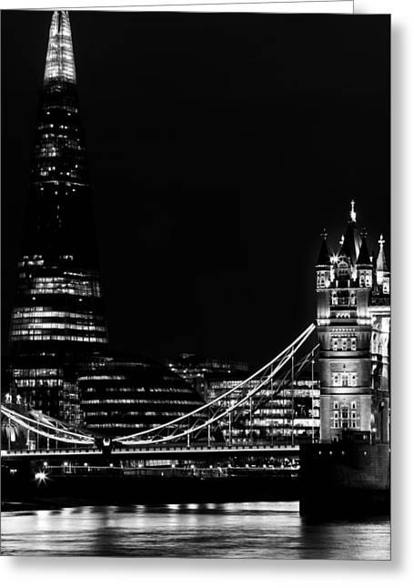 The Shard And Tower Bridge Greeting Card