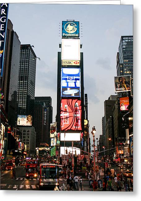 Times Square Greeting Card by Erin Cadigan