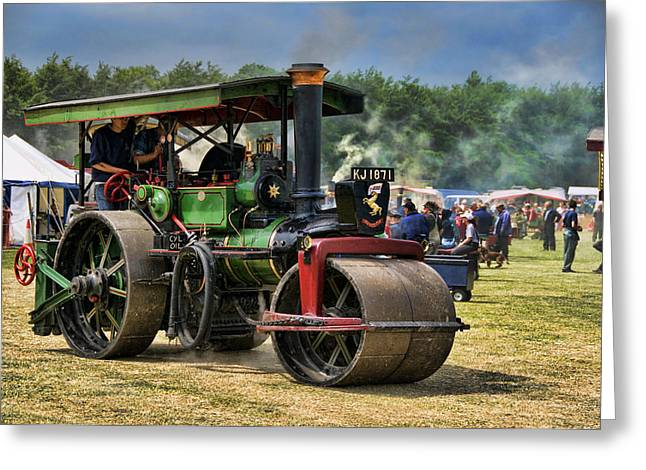 Traction Engine Greeting Card by Jeff Dalton