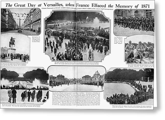 Treaty Of Versailles, 1919 Greeting Card by Granger
