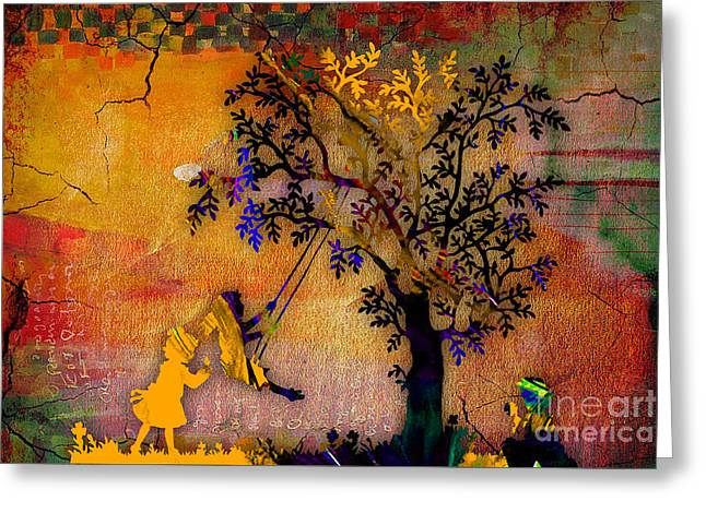 Tree Wall Art Greeting Card by Marvin Blaine