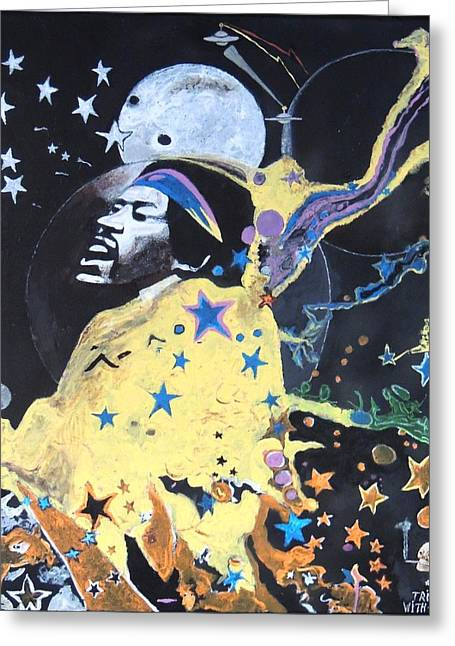 Trippin' With Jimi. Greeting Card by Ken Zabel