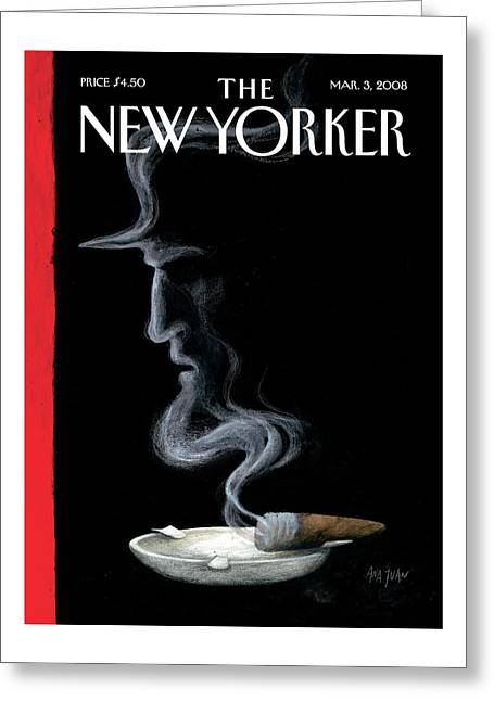 New Yorker March 3rd, 2008 Greeting Card