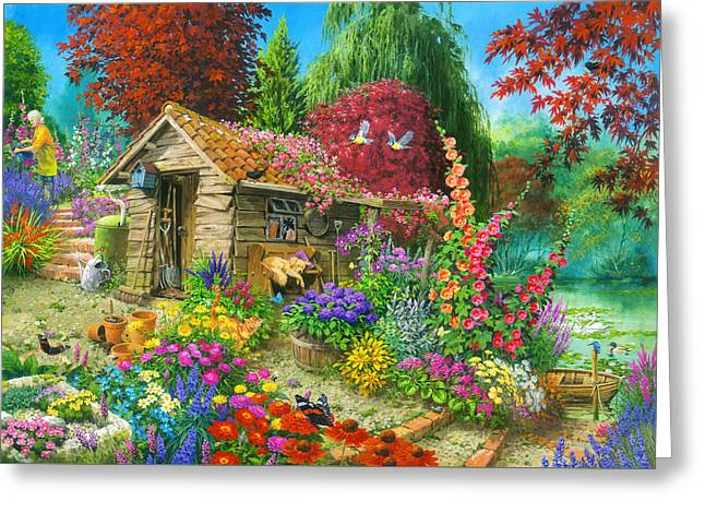 The Garden Shed Variant 1 Greeting Card by John Francis