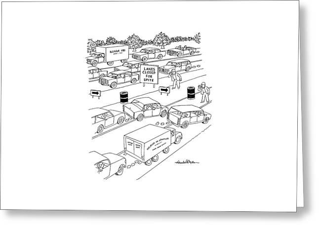 New Yorker September 20th, 2004 Greeting Card by J.B. Handelsman