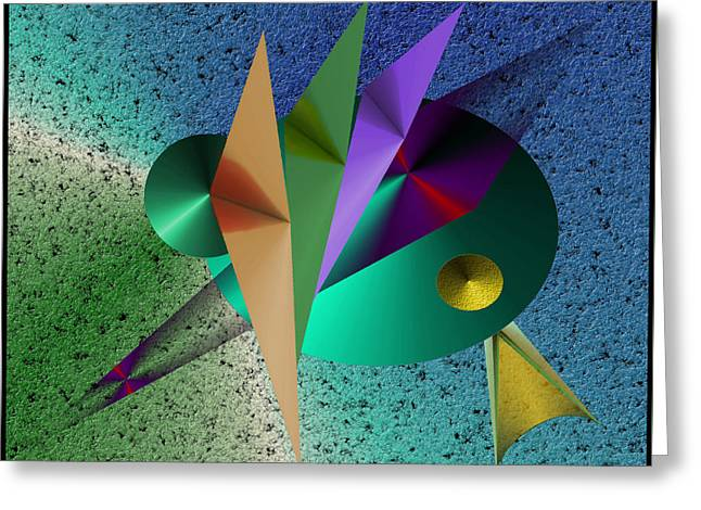 Abstract Bird Of Paradise Greeting Card