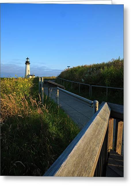 Usa, Oregon, Newport, Yaquina Head Greeting Card by Rick A Brown