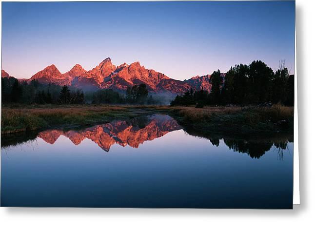 Usa, Wyoming, Grand Teton National Greeting Card by Adam Jones