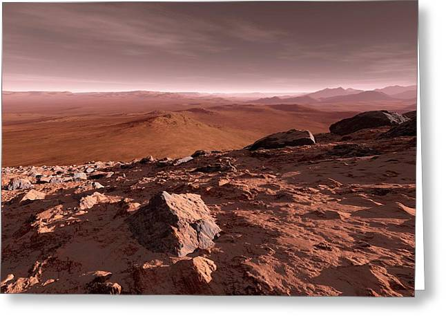 Valles Marineris Greeting Card by Detlev Van Ravenswaay