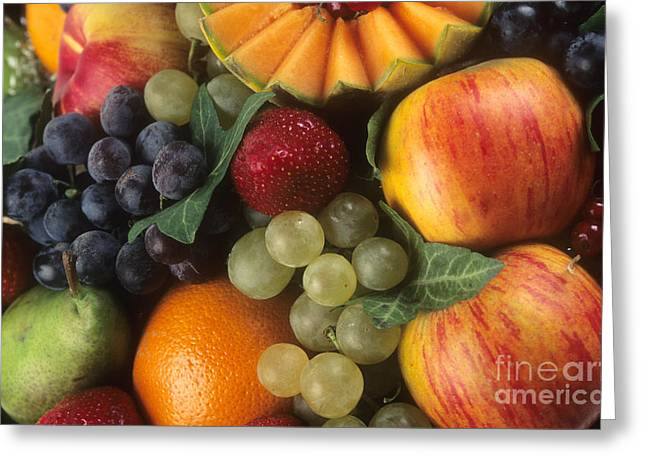 Variety Of Fruits Greeting Card by Bernard Jaubert