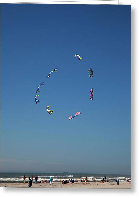 Wa, Long Beach, International Kite Greeting Card by Jamie and Judy Wild
