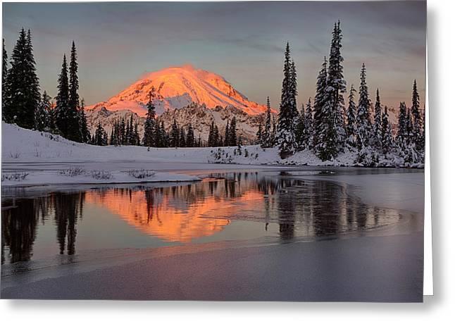 Wa, Mount Rainier National Park, Mount Greeting Card