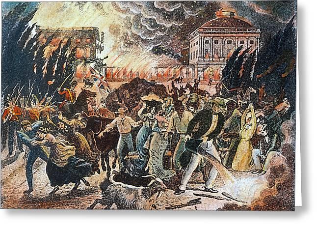 Washington Burning, 1814 Greeting Card by Granger