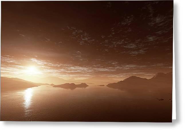 Water On Mars Greeting Card by Detlev Van Ravenswaay
