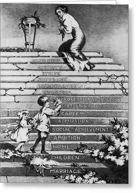 Women's Rights Cartoon Greeting Card