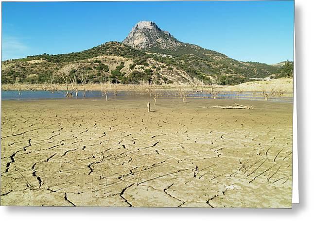 Zahara - El Gastor Reservoir Greeting Card by Ken Welsh