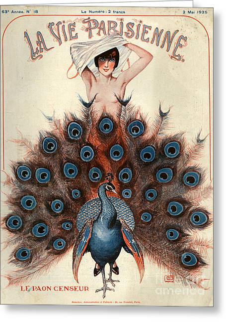 1920s France La Vie Parisienne Magazine Greeting Card