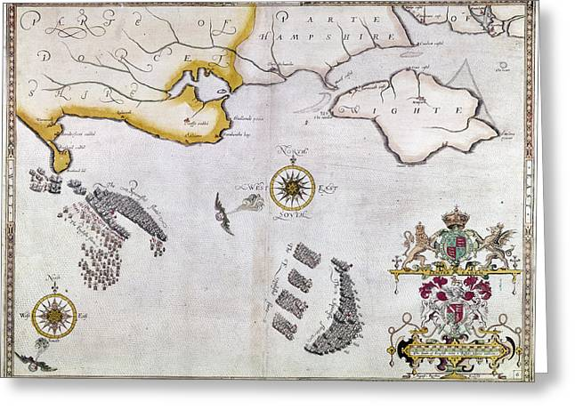 Spanish Armada, 1588 Greeting Card by Granger