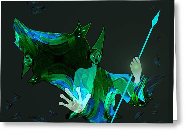 711 - Those Flying Things Of Night  - Halloween Greeting Card