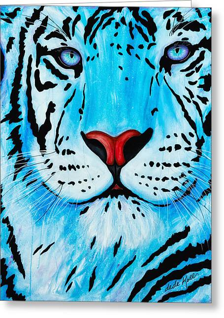 Greeting Card featuring the painting Blue Bengal by Dede Koll