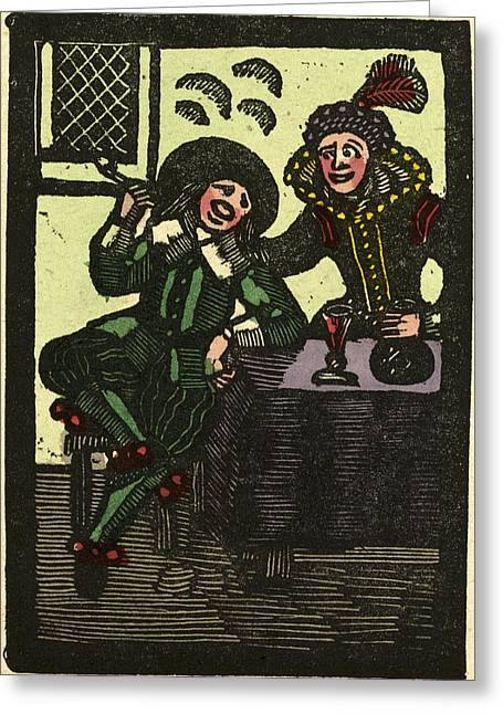 Illustration Of English Tales Folk Tales And Ballads Greeting Card