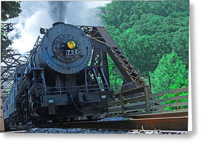 Greeting Card featuring the photograph 734 by Mike Flynn