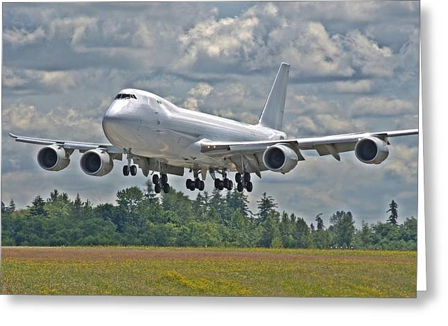 747 Landing Greeting Card