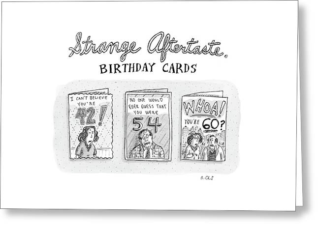 New Yorker October 30th, 2006 Greeting Card by Roz Chast