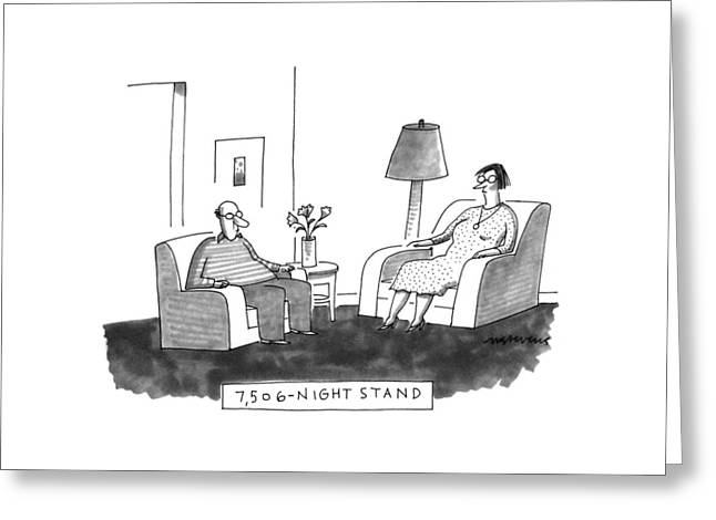 7,506-night Stand Greeting Card