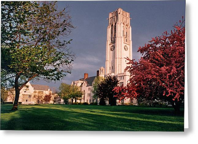 7535 University Of Toledo Bell Tower Greeting Card by Chris Maher