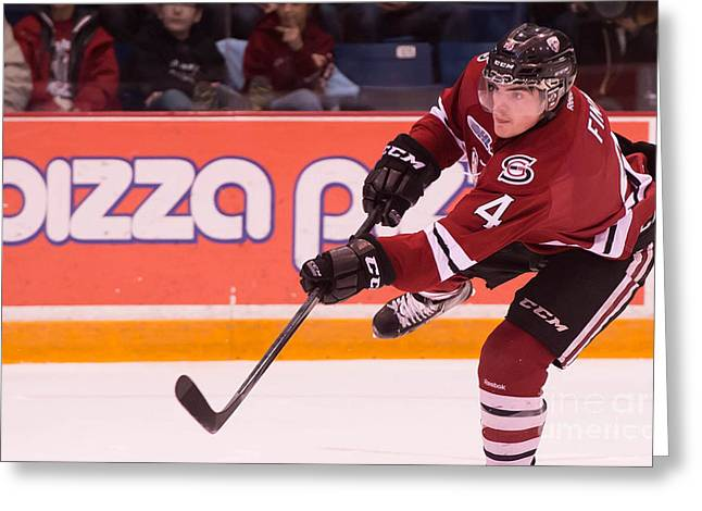 Guelph Storm Greeting Card by Rob Andrus