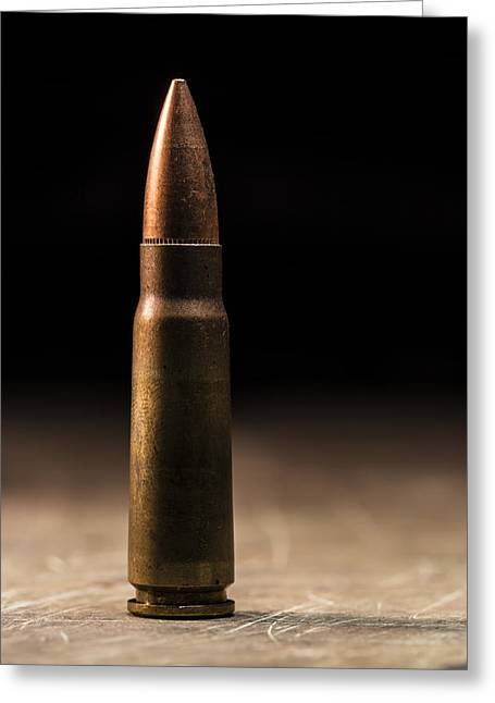 7.62 X 39mm Greeting Card by Andrew Pacheco