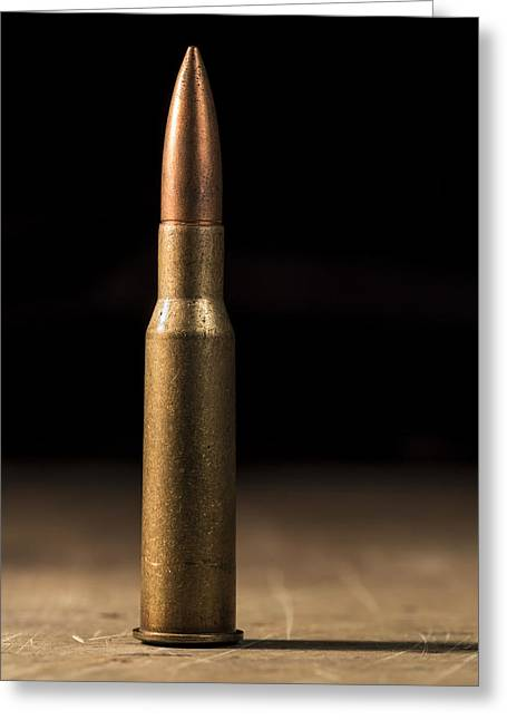 7.62 X 54mmr Greeting Card by Andrew Pacheco