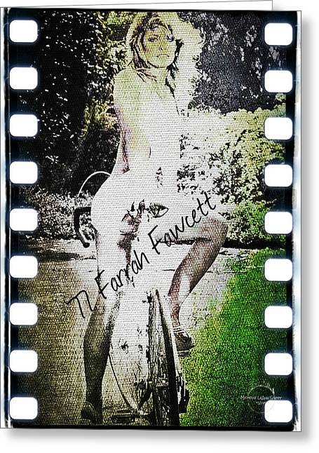'77 Farrah Fawcett Greeting Card