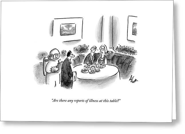 Are There Any Reports Of Illness At This Table? Greeting Card